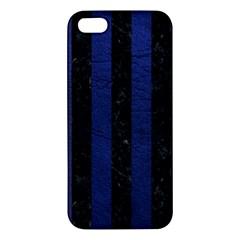 STR1 BK-MRBL BL-LTHR Apple iPhone 5 Premium Hardshell Case