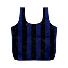 STR1 BK-MRBL BL-LTHR Full Print Recycle Bags (M)