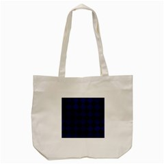 Square2 Black Marble & Blue Leather Tote Bag (cream)