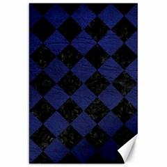 SQR2 BK-MRBL BL-LTHR Canvas 20  x 30