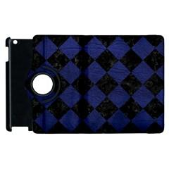 SQR2 BK-MRBL BL-LTHR Apple iPad 3/4 Flip 360 Case