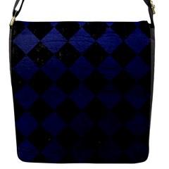 SQR2 BK-MRBL BL-LTHR Flap Messenger Bag (S)