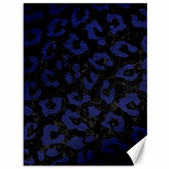 Skin5 Black Marble & Blue Leather (r) Canvas 36  X 48