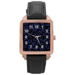 SKN5 BK-MRBL BL-LTHR (R) Rose Gold Leather Watch