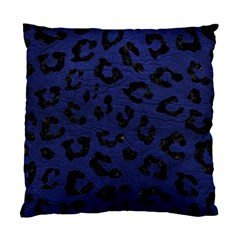 Skin5 Black Marble & Blue Leather Standard Cushion Case (two Sides)
