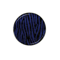 Skin4 Black Marble & Blue Leather (r) Hat Clip Ball Marker (10 Pack)