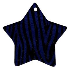 SKN4 BK-MRBL BL-LTHR (R) Star Ornament (Two Sides)