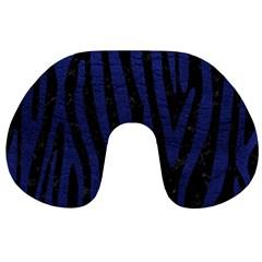 SKN4 BK-MRBL BL-LTHR (R) Travel Neck Pillows