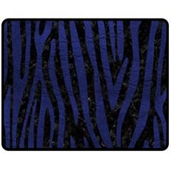 SKN4 BK-MRBL BL-LTHR (R) Double Sided Fleece Blanket (Medium)