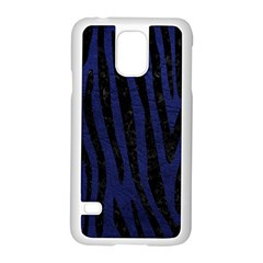 SKN4 BK-MRBL BL-LTHR Samsung Galaxy S5 Case (White)