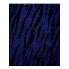SKN3 BK-MRBL BL-LTHR (R) Shower Curtain 60  x 72  (Medium)