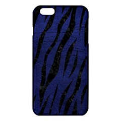 Skin3 Black Marble & Blue Leather (r) Iphone 6 Plus/6s Plus Tpu Case