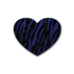 SKN3 BK-MRBL BL-LTHR Rubber Coaster (Heart)