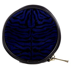 Skin2 Black Marble & Blue Leather (r) Mini Makeup Bag