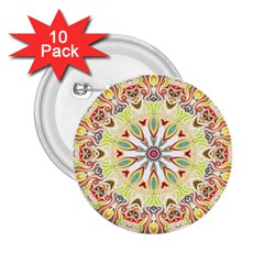 Intricate Flower Star 2.25  Buttons (10 pack)