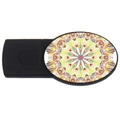 Intricate Flower Star Usb Flash Drive Oval (2 Gb)