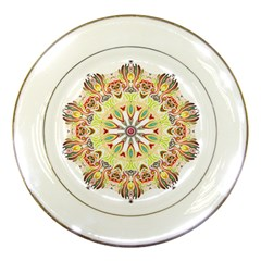 Intricate Flower Star Porcelain Plates