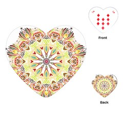 Intricate Flower Star Playing Cards (Heart)
