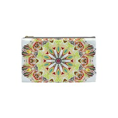 Intricate Flower Star Cosmetic Bag (Small)