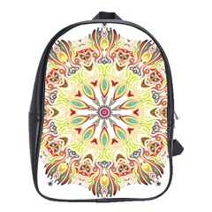 Intricate Flower Star School Bags(Large)