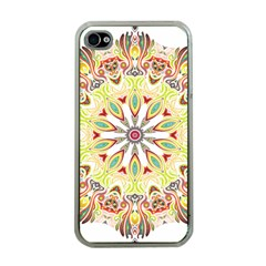 Intricate Flower Star Apple iPhone 4 Case (Clear)