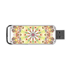 Intricate Flower Star Portable USB Flash (Two Sides)