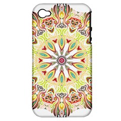 Intricate Flower Star Apple iPhone 4/4S Hardshell Case (PC+Silicone)