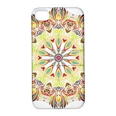 Intricate Flower Star Apple iPhone 4/4S Hardshell Case with Stand