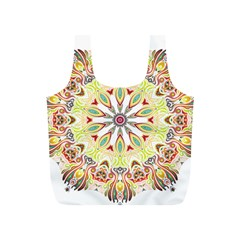 Intricate Flower Star Full Print Recycle Bags (S)