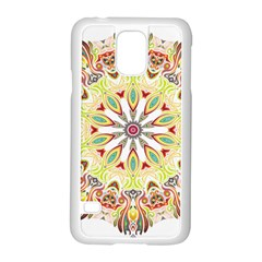 Intricate Flower Star Samsung Galaxy S5 Case (White)
