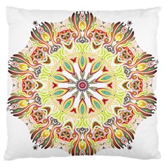 Intricate Flower Star Large Flano Cushion Case (One Side)