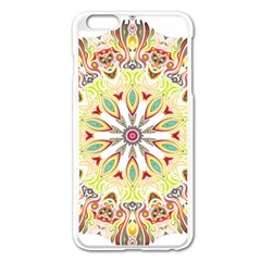 Intricate Flower Star Apple iPhone 6 Plus/6S Plus Enamel White Case