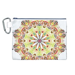 Intricate Flower Star Canvas Cosmetic Bag (L)