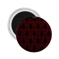 Elegant Black And Red Damask Antique Vintage Victorian Lace Style 2.25  Magnets