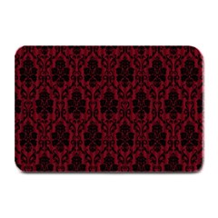 Elegant Black And Red Damask Antique Vintage Victorian Lace Style Plate Mats