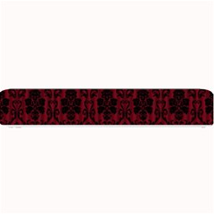 Elegant Black And Red Damask Antique Vintage Victorian Lace Style Small Bar Mats