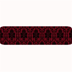 Elegant Black And Red Damask Antique Vintage Victorian Lace Style Large Bar Mats