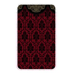 Elegant Black And Red Damask Antique Vintage Victorian Lace Style Memory Card Reader