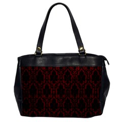 Elegant Black And Red Damask Antique Vintage Victorian Lace Style Office Handbags