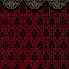 Elegant Black And Red Damask Antique Vintage Victorian Lace Style Magic Photo Cubes