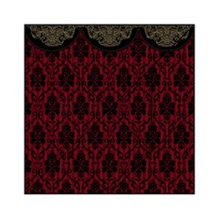 Elegant Black And Red Damask Antique Vintage Victorian Lace Style Acrylic Tangram Puzzle (6  x 6 )