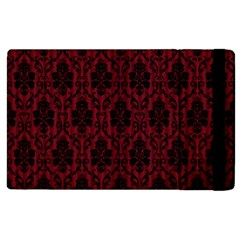 Elegant Black And Red Damask Antique Vintage Victorian Lace Style Apple iPad 2 Flip Case