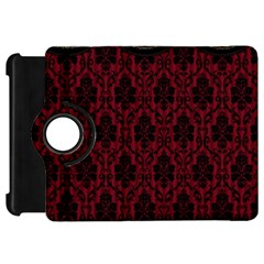 Elegant Black And Red Damask Antique Vintage Victorian Lace Style Kindle Fire HD 7