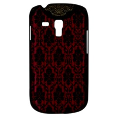 Elegant Black And Red Damask Antique Vintage Victorian Lace Style Galaxy S3 Mini