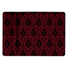 Elegant Black And Red Damask Antique Vintage Victorian Lace Style Samsung Galaxy Tab 10.1  P7500 Flip Case
