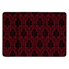 Elegant Black And Red Damask Antique Vintage Victorian Lace Style Samsung Galaxy Tab 8.9  P7300 Flip Case
