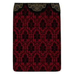Elegant Black And Red Damask Antique Vintage Victorian Lace Style Flap Covers (L)