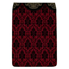 Elegant Black And Red Damask Antique Vintage Victorian Lace Style Flap Covers (S)