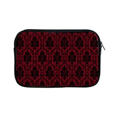 Elegant Black And Red Damask Antique Vintage Victorian Lace Style Apple iPad Mini Zipper Cases