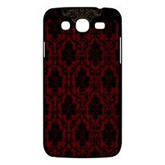 Elegant Black And Red Damask Antique Vintage Victorian Lace Style Samsung Galaxy Mega 5.8 I9152 Hardshell Case